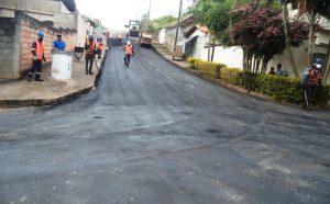 Pavimentação e recapeamento chegam a novas áreas de Congonhas