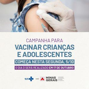 Campanha de multivacinação para crianças e adolescentes vai até 30/10