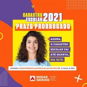 Prorrogado prazo do cadastro escolar para 2021