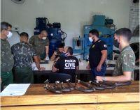 Barbacena: Polícia Civil encaminha ao Exército armas de fogo apreendidas