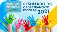 Resultado do cadastramento escolar 2021 rede municipal de ensino em Lafaiete