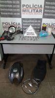 Polícia Militar atende denúncia e apreende drogas e peças de moto no bairro Paulo VI