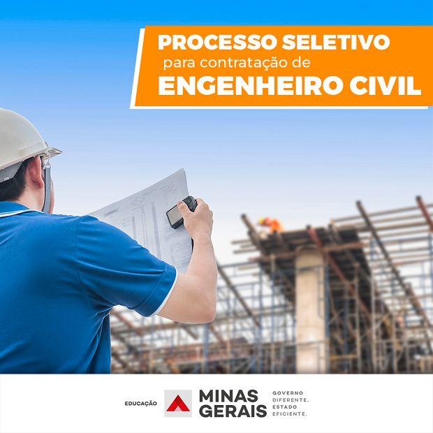 Educação lança processo seletivo simplificado para contratação de engenheiros civis