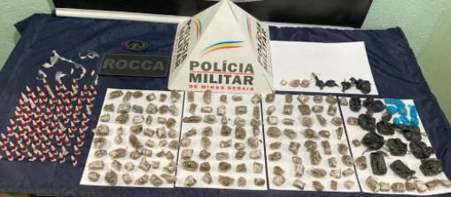 Vasta apreensão de drogas e duas pessoas conduzidas por envolvimento com o tráfico