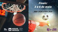 e-JEMG: fase final dos campeonatos do NBA 2K20 e FIFA2020 começa nesta segunda-feira (3/5)