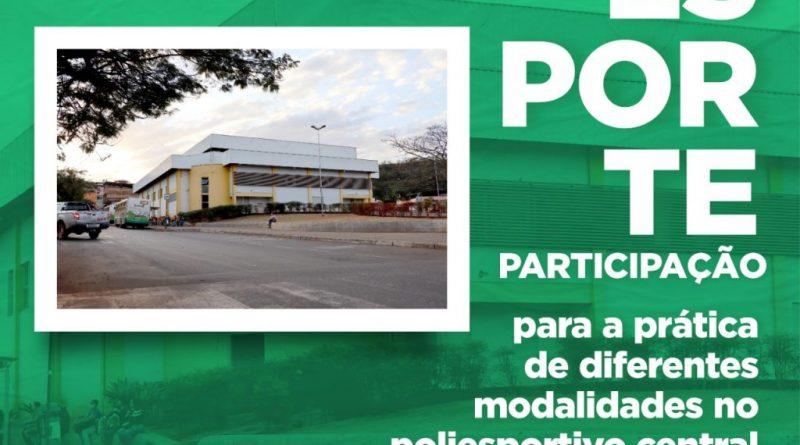 """""""Esporte Participação"""" para a prática de diferentes modalidades no Poliesportivo de Congonhas"""