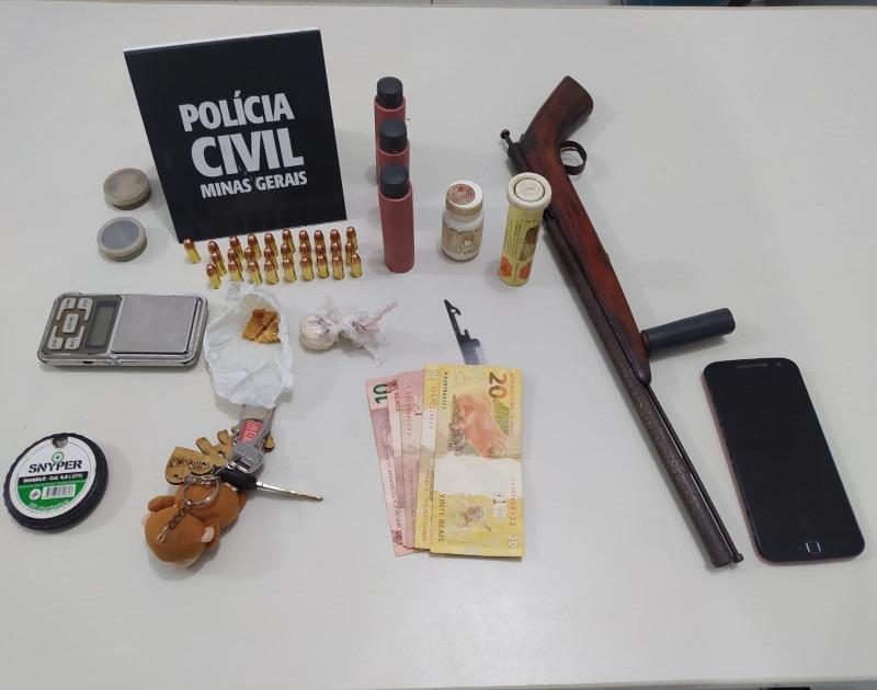 Polícia Civil prende suspeito por tráfico de drogas e posse ilegal de arma de fogo