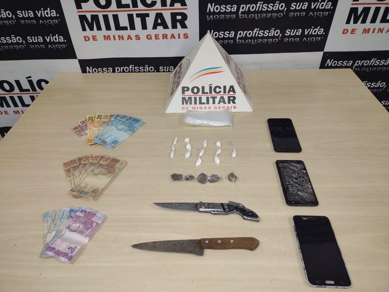 Homens são presos com drogas e dinheiro falso